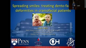 "Thumbnail for entry Peds_GrRds 5/3/2017: ""Spreading Smiles: The importance of appearance in the craniofacial population"" Jesse A. Taylor, MD, FACS"