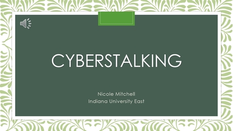 Thumbnail for entry Nicole Mitchell Cyberstalking SRD2020 Presentation