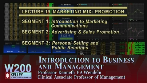 Thumbnail for entry W200 19-1 Introduction to Marketing Communications