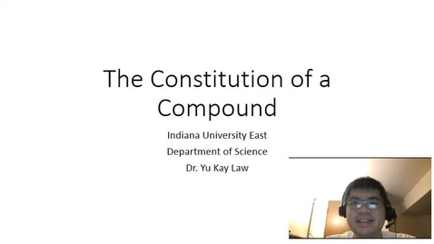 Thumbnail for entry The Constitution of a Compound