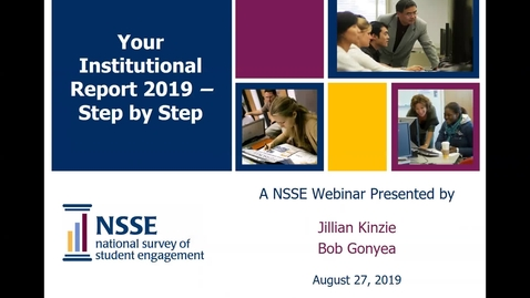 Thumbnail for entry Your NSSE Institutional Report 2019: STEP BY STEP