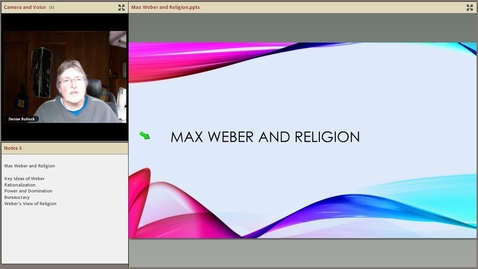 Thumbnail for entry Weber and Religion