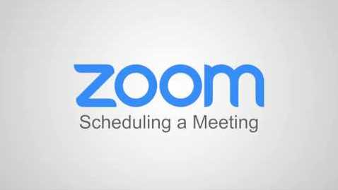 Thumbnail for entry Scheduling a Meeting