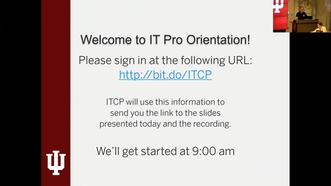 Thumbnail for entry IT Pro Orientation 15 Nov 2018 - Part 1