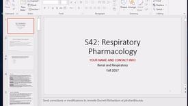 Thumbnail for entry Respiratory Pharmacology- IUSM-FW, Dr Henrickson 2017 Oct 12 12:02:08