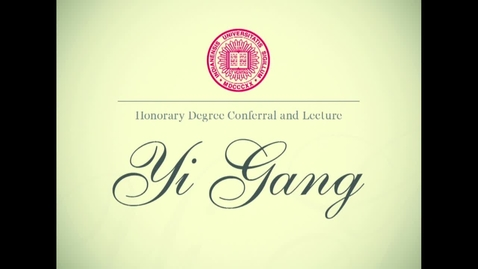 Thumbnail for entry Top Chinese finance official delivers lecture at IUPUI, receives honorary degree