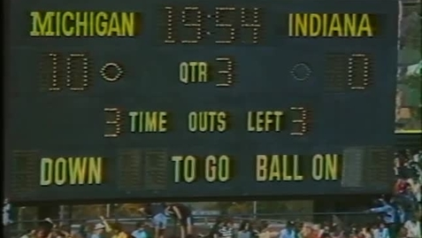 Thumbnail for entry 1982-10-02 at Michigan - Halftime