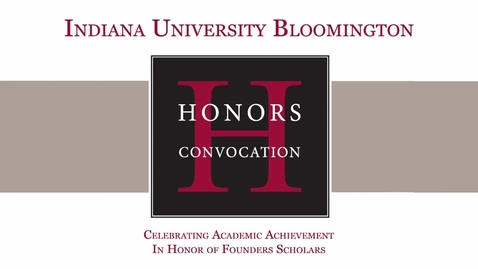 Thumbnail for entry IUB Honors Convocation 2018