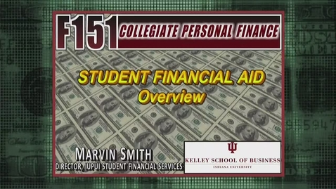 Thumbnail for entry F151 Financial Aid Marvin Smith Overview