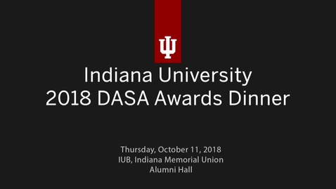 Thumbnail for entry DASA Awards 2018