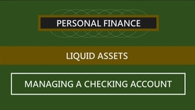 Thumbnail for entry F260 04-2 Managing a Checking Account