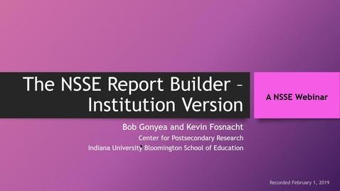 Thumbnail for entry Report Builder Webinar