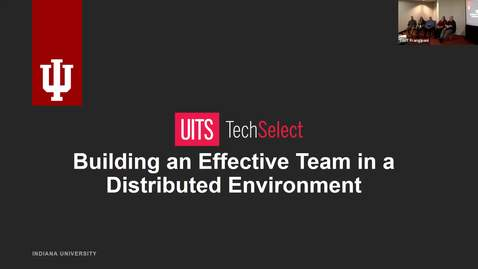 Thumbnail for entry Statewide IT 2018 - Building an effective team in a distributed environment