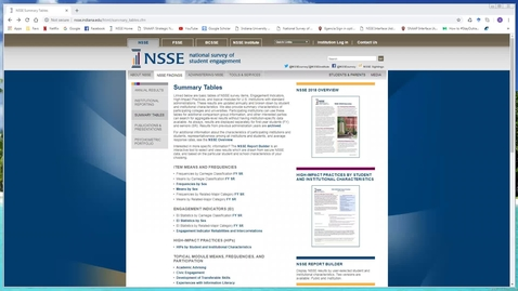 Thumbnail for entry An Overview of the NSSE Summary Tables