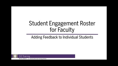 Thumbnail for entry 4. SER Feedback for Individual Student - Spring 2018