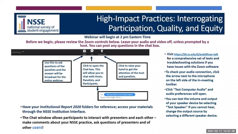 Thumbnail for entry High-Impact Practices: Interrogating Participation, Quality and Equity