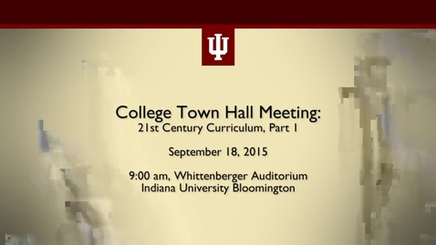Thumbnail for entry College of Arts and Sciences Town Hall Meeting