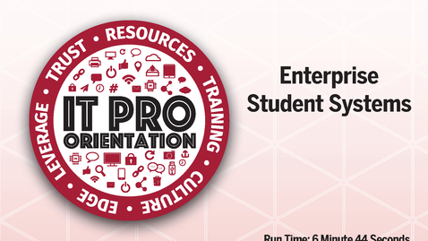 Thumbnail for entry Enterprise Student Systems
