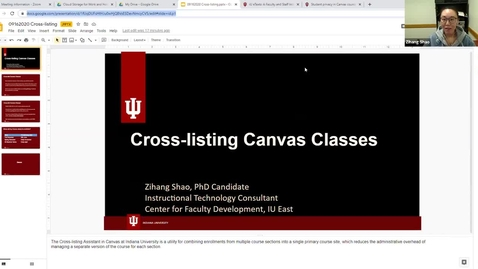 Thumbnail for entry Cross-listing Canvas Classes