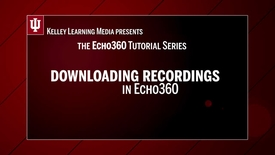 Thumbnail for entry Downloading your Echo Recordings