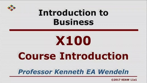 Thumbnail for entry X100 00 Course Introduction