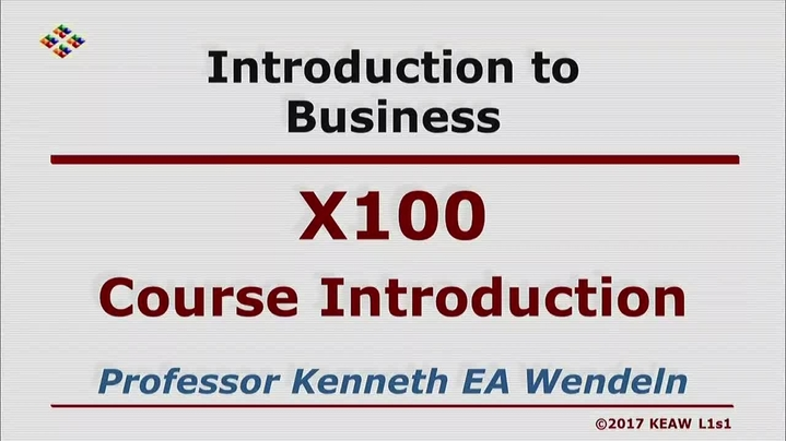 Thumbnail for channel X100 Introduction to Business