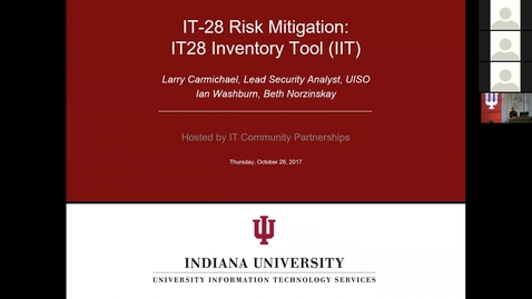 Thumbnail for entry IT-28 And Risk Mitigation Infoshare 3 (of 3)