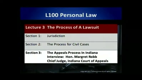 Thumbnail for entry L100 03-3 The Appeals Process in Indiana