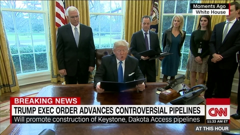 Thumbnail for entry Trump signs oil pipeline executive actions