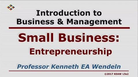 Thumbnail for entry W200 05-2 Enterpreneurship