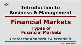 Thumbnail for entry X100_Lecture 12-Segment 3_Types of Financial Markets