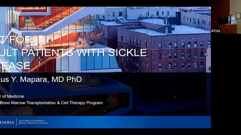 """Thumbnail for entry  IUSCC Grand Rounds, Oct 25, 2019-- Markus Mapara, MD, PhD """"Stem Cell Transplant for Sickle Cell Disease"""""""