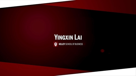 Thumbnail for entry Yingxin Lai Personal Brand Pitch