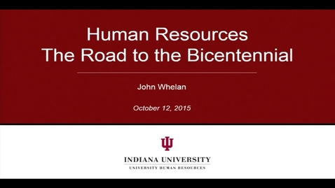 Thumbnail for entry IU Human Resources Meeting
