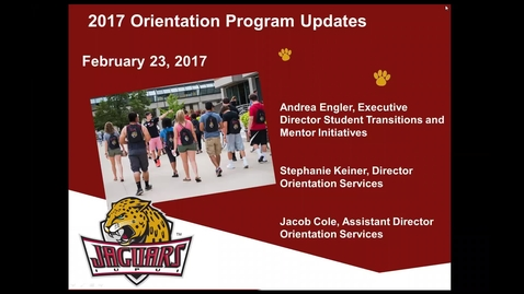 Thumbnail for entry Feb. 27 Orientation Update