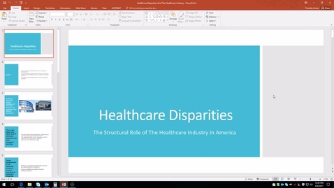 Thumbnail for entry Healthcare Disparities: The Structural Role of The Healthcare Industry In America