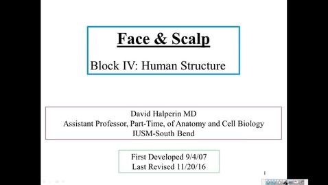 Thumbnail for entry HS Face IUSM-SB - 2016 Nov 21 02:44:59