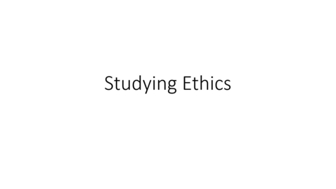 Thumbnail for entry Studying Ethics