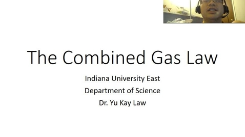 Thumbnail for entry The Combined Gas Law