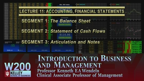 Thumbnail for entry W200 11-1 The Balance Sheet