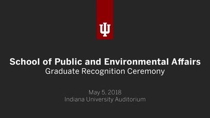 IUB School of Public and Environmental Affairs - Graduate