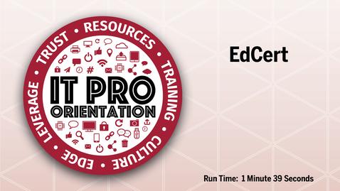 Thumbnail for entry EdCert