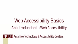 Thumbnail for entry Web Accessibility Basics