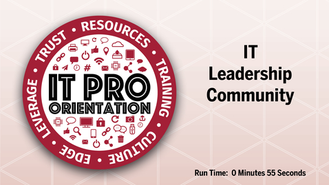 Thumbnail for entry IT Leadership Community