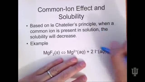 Thumbnail for entry Common-Ion Effect and Solubility