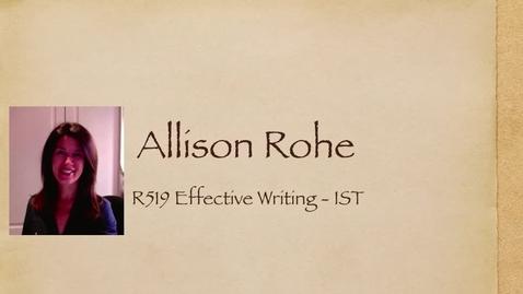 Thumbnail for entry Allison_R519_intro_2mins