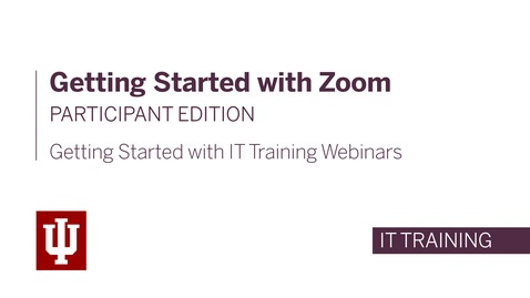 Thumbnail for entry Getting Started with Zoom: Participant Edition