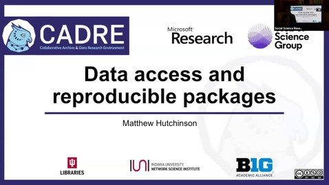 Thumbnail for entry CADRE: A one-stop shop for scholarly data access, sharing, and reproducible computation