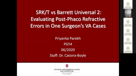Thumbnail for entry SRK/T vs Barrett Universal 2: Evaluating post-phaco refractive errors in one surgeon's VA cases
