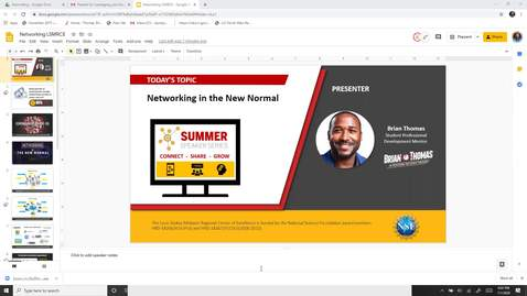 Thumbnail for entry Webinar Networking in the New Normal